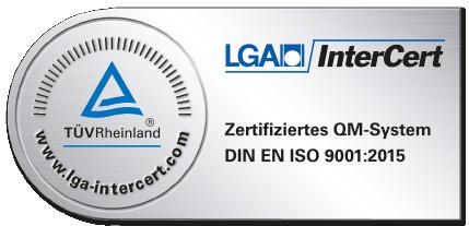 LGA InterCert ISO 9001 TÜV Rheinland