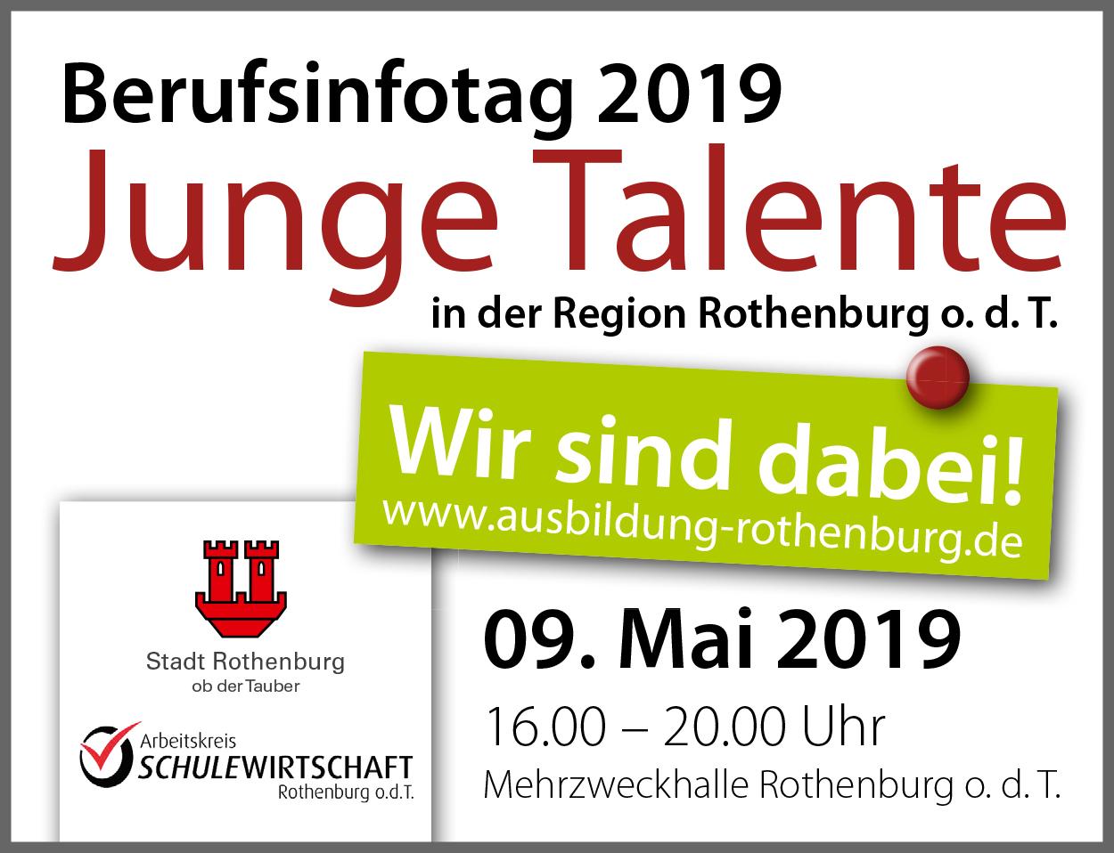 """Berufsinfotag 2019 """"Junge Talente"""" In Rothenburg – Wir Sind Dabei!"""